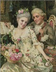 Couple Of Rococo Lovers