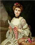 Society Lady With Love Letter