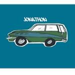 Personalize it!  Vintage Green Wagon- Ocean