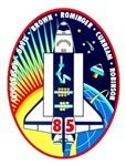Shuttle Mission 85 Patch Insignia