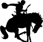 Bucking Bronco Silhouette