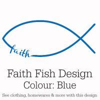 Blue Faith Fish Design