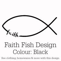 Black Faith Fish Design