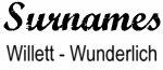 Vintage Surname - Willett - Wunderlich