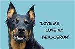 Love Me, Love My Beauceron, dark shirt