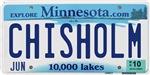Chisholm License Plate Shop