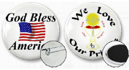 Buttons and Pins - Many designs including Pro-Life
