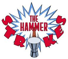 The Hammer Strikes Logo
