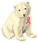 Pink Ribbon Polar Bear