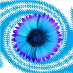 Purple Teal Flower Swirl