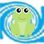 Frog on Blue