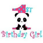 1st Birthday Girl Panda