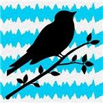 Bird on Teal