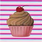 Cupcake on Stripes