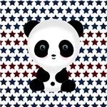 Panda on Blue Stars