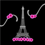Eiffel Tower Floral Pink