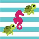 Sea Turtle Seahorse