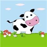 Cute Cow in a Field