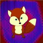 Red Fox on Purple