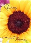 Giving Thanks - Sunflower Design