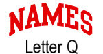 Names (red) Letter Q