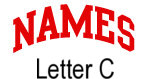 Names (red) Letter C