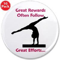 Gymnastics Buttons 3.5