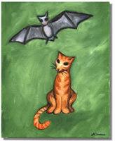 Nitrozac's Cat and Bat Painting!