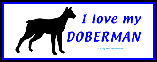 I LOVE MY DOG - DOBERMAN