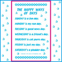 DAYS OF THE WEEK, MONTHS OF THE YEAR POEMS
