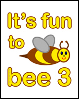 BEE 3rd BIRTHDAY T-SHIRT