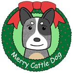 Australian Cattle Dog Christmas Ornaments