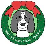English Cocker Spaniel Christmas Ornaments