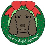 Field Spaniel Christmas Ornaments