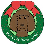 Irish Water Spaniel Christmas Ornaments