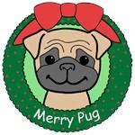 Pug Christmas Ornaments