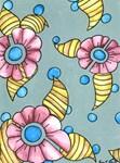 Marsala Flowers in a Polka Dot Sky