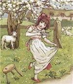 Little Miss Muffet, by Kate Greenaway