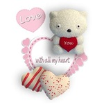 Hearts, Love, and Teddy Bear