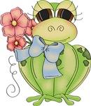 Cute Frog & Flower
