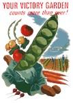 Vintage World War II Victory Garden Poster Art