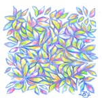 Colorful Pastel Leaves (Free Form)