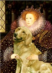 QUEEN ELIZABETH I<br>& Golden Retriever