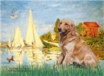 BOATING AT ARGENTEUIL<br>& Golden Retriever