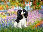 GARDEN AT GIVERNY<br>& Cavalier King Charles