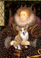 QUEEN ELIZABETH I<br>& Pembroke Welsh Corgi
