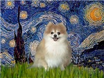 STARRY NIGHT<br>& Pomeranian (red)