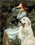 OPHELIA (SEATED)<br>& Great Pyrenees