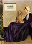 WHISTLER'S MOTHER<br>& Sable long haired Dachshund