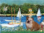 BASSIN AT ARGENTEUIL<br>English Bulldog(Br/Wh)